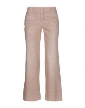 Повседневные брюки JO NO FUI. Цвет: телесный