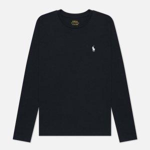 Женский лонгслив Crew Neck 30/1 Cotton Jersey Polo Ralph Lauren. Цвет: чёрный