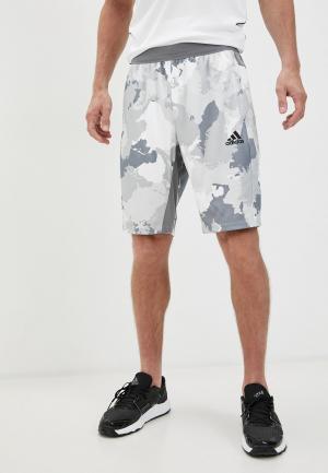 Шорты спортивные adidas CAMO SHORT. Цвет: серый