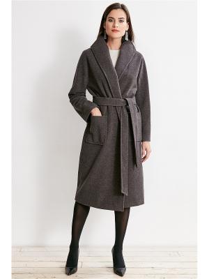 Пальто La vida rica. Цвет: темно-серый