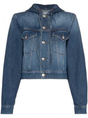 Джинсовая куртка с капюшоном Ganni. Цвет: синий