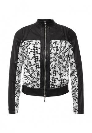 Куртка кожаная Byblos. Цвет: черный