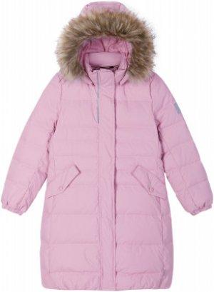 Пальто пуховое для девочек Satu, размер 152 Reima. Цвет: розовый