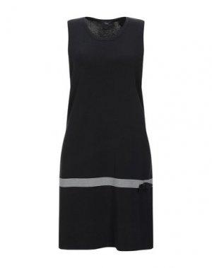 Короткое платье ALJSSA. Цвет: черный