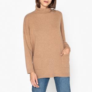 Пуловер удлинённый с воротинком отворотом GASTIEN HARRIS WILSON. Цвет: бежевый