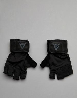 Черные перчатки Training CV5843 Reebok. Цвет: черный
