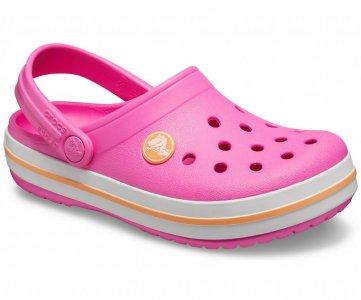 Сабо детские CROCS Crocband™ clog (Kids) électrique Pink/Cantaloupe арт. 204537. Цвет: électrique pink/cantaloupe