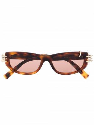 Солнцезащитные очки GV Piercing в оправе кошачий глаз Givenchy Eyewear. Цвет: коричневый