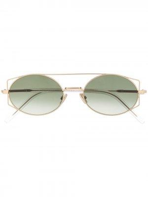 Солнцезащитные очки Architectural Dior Eyewear. Цвет: золотистый