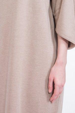 Трикотажное бежевое платье BILANCIONI. Цвет: бежевый