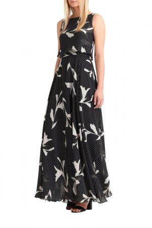 Шифоновое платье Apart. Цвет: черный, кремовый