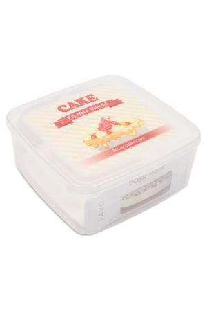 Контейнер для пирожных PAVO, 4 л DOSH I HOME. Цвет: белый, прозрачный