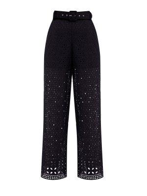 Кружевные брюки-палаццо из коллекции Breezy Batista CHARO RUIZ IBIZA. Цвет: черный