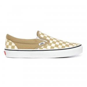 Кеды Checkerboard Slip-On VANS. Цвет: бежевый