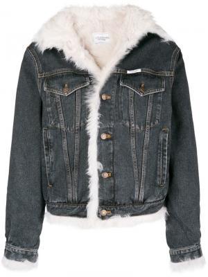 Джинсовая куртка с подкладкой из овчины Forte Dei Marmi Couture. Цвет: черный