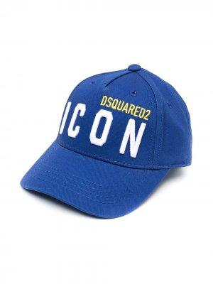 Бейсболка с вышивкой Icon Dsquared2 Kids. Цвет: синий