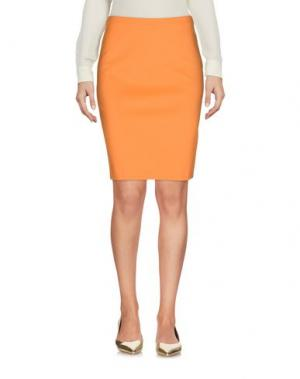 Юбка до колена 1-ONE. Цвет: оранжевый