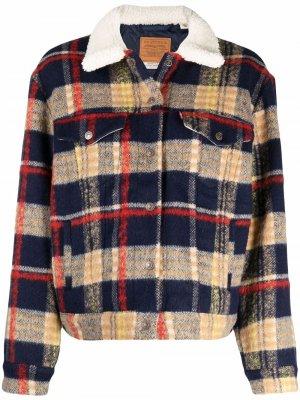 Levis куртка Trucker в клетку Levi's. Цвет: синий