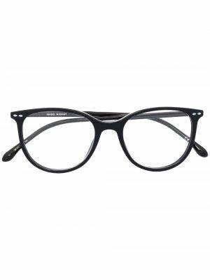 Очки в круглой оправе Isabel Marant Eyewear. Цвет: черный