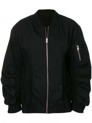 Куртка-бомбер в рубчик с логотипом Calvin Klein Jeans Est. 1978. Цвет: черный