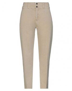 Повседневные брюки CURRENT/ELLIOTT. Цвет: бежевый