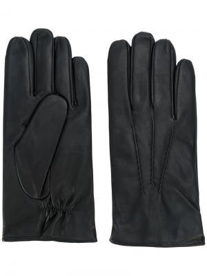Однотонные перчатки Orciani. Цвет: черный