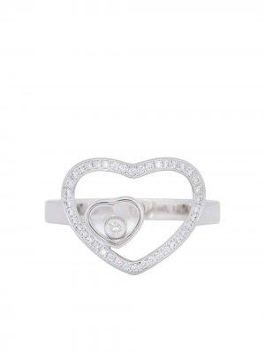 Золотое кольцо Happy с бриллиантами Chopard Pre-Owned. Цвет: серебристый