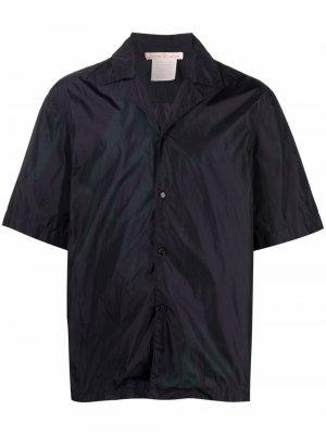 Рубашка с жатым эффектом Acne Studios. Цвет: синий