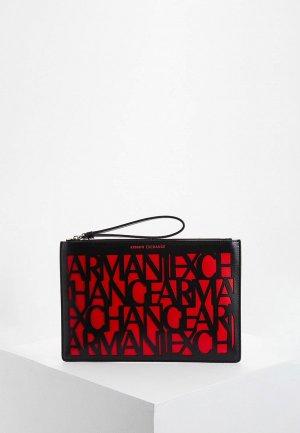 Клатч Armani Exchange. Цвет: красный