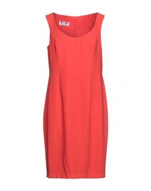 Платье миди GAI MATTIOLO. Цвет: красный