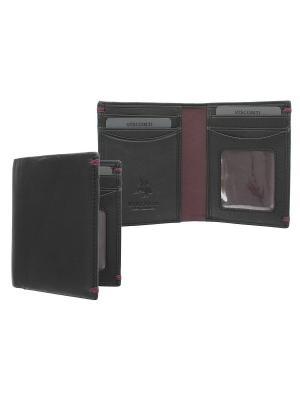 Бумажник Thun Visconti. Цвет: черный, бордовый
