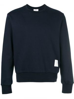 Пуловер с контрастной панелью в полоску Thom Browne. Цвет: синий