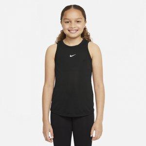 Майка для девочек школьного возраста Dri-FIT One - Черный Nike