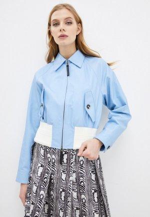 Куртка кожаная Marni. Цвет: голубой