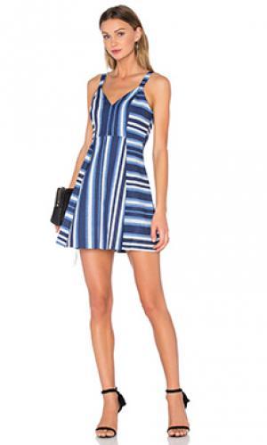 Мини платье cocktail striped v neck BCBGeneration. Цвет: синий