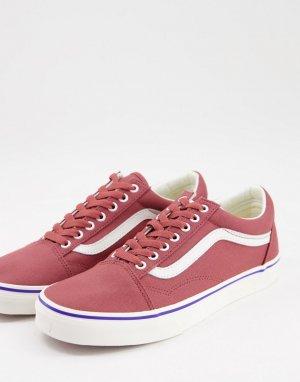 Красные кеды Old Skool Retro Cali-Коричневый цвет Vans