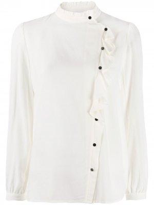 Блузка Real асимметричного кроя Ba&Sh. Цвет: белый