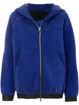 Куртка на молнии с капюшоном Ilaria Nistri. Цвет: синий