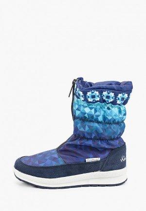 Дутики King Boots. Цвет: синий