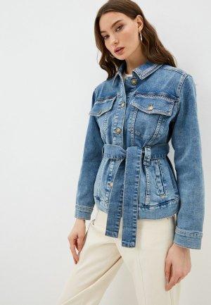 Куртка джинсовая Twinset Milano MY TWIN. Цвет: голубой