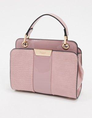 Фактурная сумка на плечо -Розовый Dune