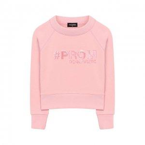 Хлопковый свитшот Dsquared2. Цвет: розовый