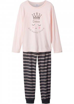 Пижама для девочки (2 изд.) bonprix. Цвет: розовый