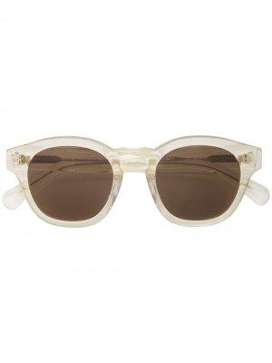 Солнцезащитные очки Madison трапециевидной формы Illesteva. Цвет: желтый
