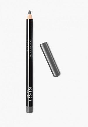 Карандаш для глаз Kiko Milano каял внутреннего контура век COLOUR KAJAL оттенок 12, High-Tech Grey, 1.05 г. Цвет: серый