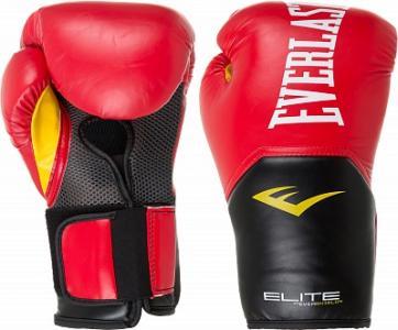 Перчатки боксерские Elite Pro style, размер 16 Everlast. Цвет: красный