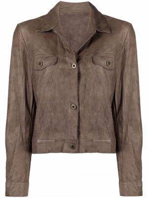 Укороченная куртка Salvatore Santoro. Цвет: нейтральные цвета