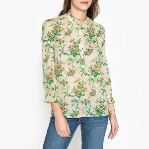 Блузка с рисунком и небольшими воланами BETTY SOEUR. Цвет: рисунок/экрю