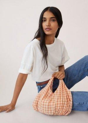 Маленькая сумка-торба - Loir Mango. Цвет: персиковый