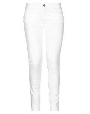 Повседневные брюки LIST. Цвет: белый